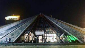 Pyramid of Tirana night view