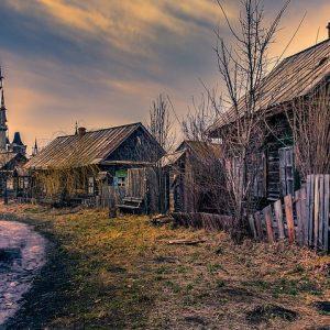Ukraine Old Village Film Set